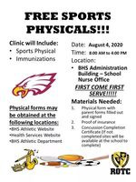 FREE SPORTS PHYSICALS!